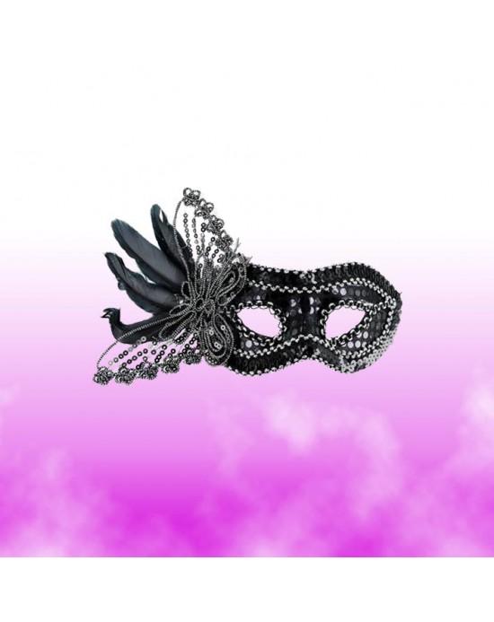 Máscara con Plumas y Vara