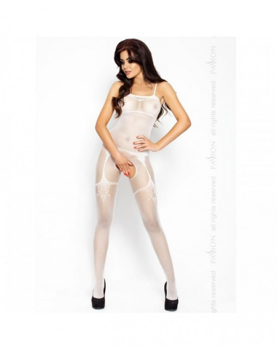 PASSION EROTICLINE CATSUIT BLANCO BS006