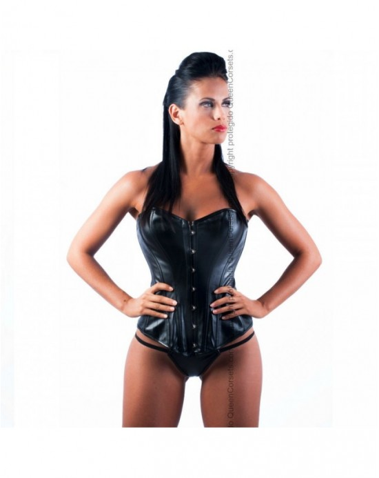 QUEEN CORSETS OBSIDIANA LEATHER NEGRO SIZE XXL