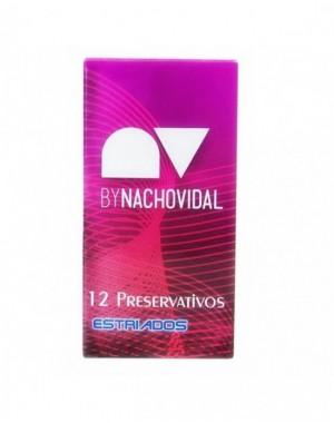 PRESERVATIVOS NACHO VIDAL ESTRIADO 12UDS