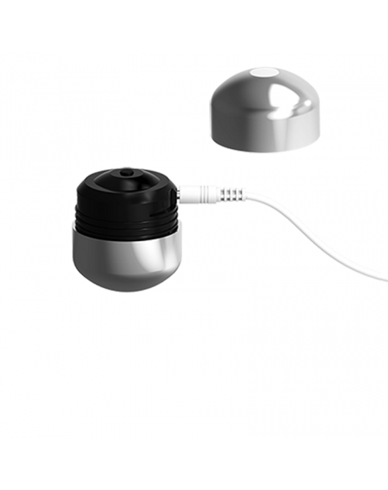ML CREATION CUTE BULLET POTENTE VIBRADOR RECARGABLE USB SILVER