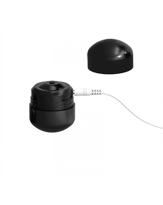 ML CREATION CUTE BULLET POTENTE VIBRADOR RECARGABLE USB NEGRO